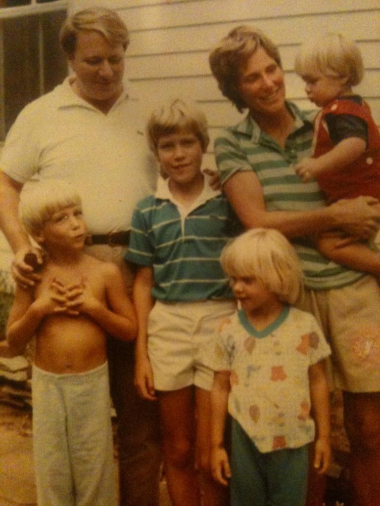 Family photo, age 10-ish.